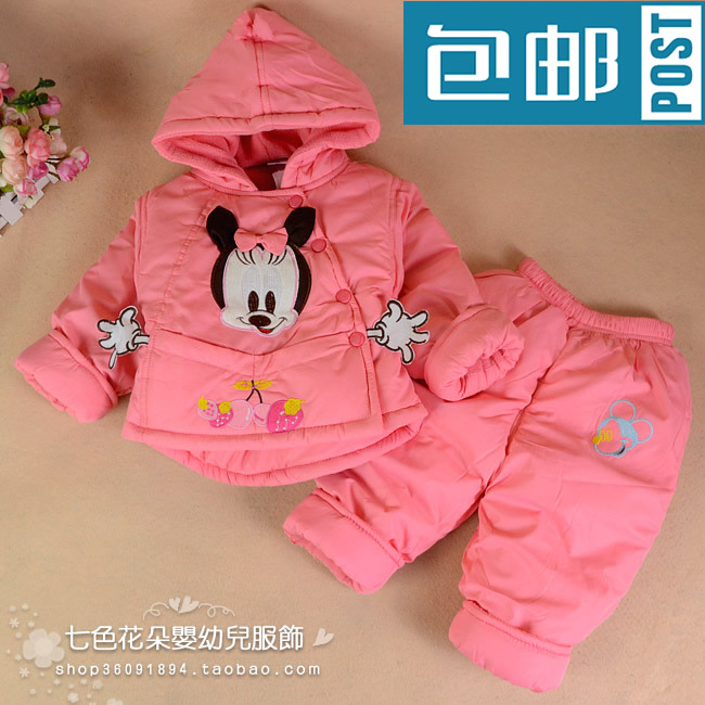 Bee Minnie Girls Clothing Winter 0 1 Year Old Baby Clothes Child