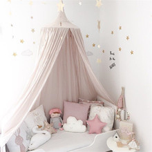 lovely baby Mosquito Net photography props baby room decoration home bed canopy curtain Round Crib Netting baby tent infant gift