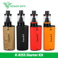 Original Kangertech K-KISS Kit 6300mAh 4.5ml Kiss Tank 510 Kkiss Mod Battery w/SSOCC Coil 0.2 Ohm coil Top Fill vs Kanger Subox