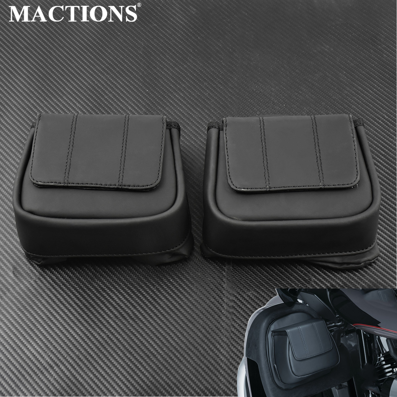 Motorcycle Lower Vented Leg Fairing Glove Box Tool Bag For Harley Touring Street Glide Road Glide