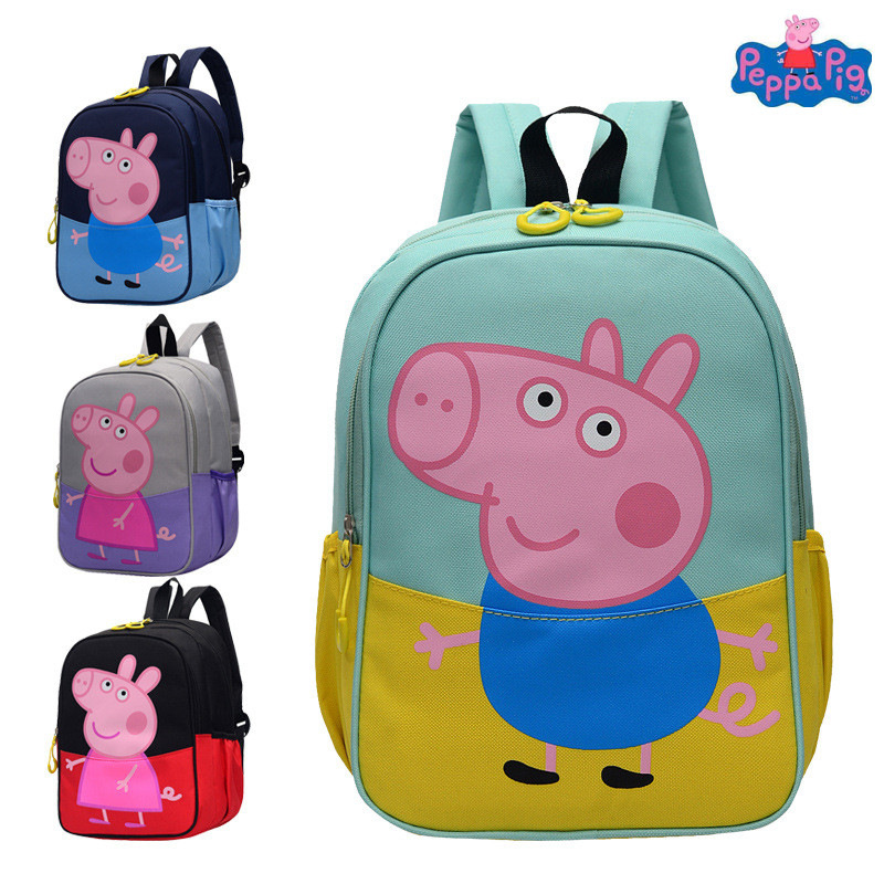 Peppa Pig Toys Boys And Girls Cute Kindergarten Backpack Canvas Backpack Cute Cartoon Children's Schoolbag Toy Gift