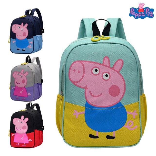 grossiste 33dcb c259d Peppa Pig jouets garçons et filles mignon maternelle sac à dos toile dessin  animé enfants cartable jouet cadeau