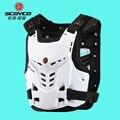 Genuino scoyco am05 armadura de la motocicleta motocross pecho parte posterior del protector armadura chaleco racing protective body protector atv guardias de carrera