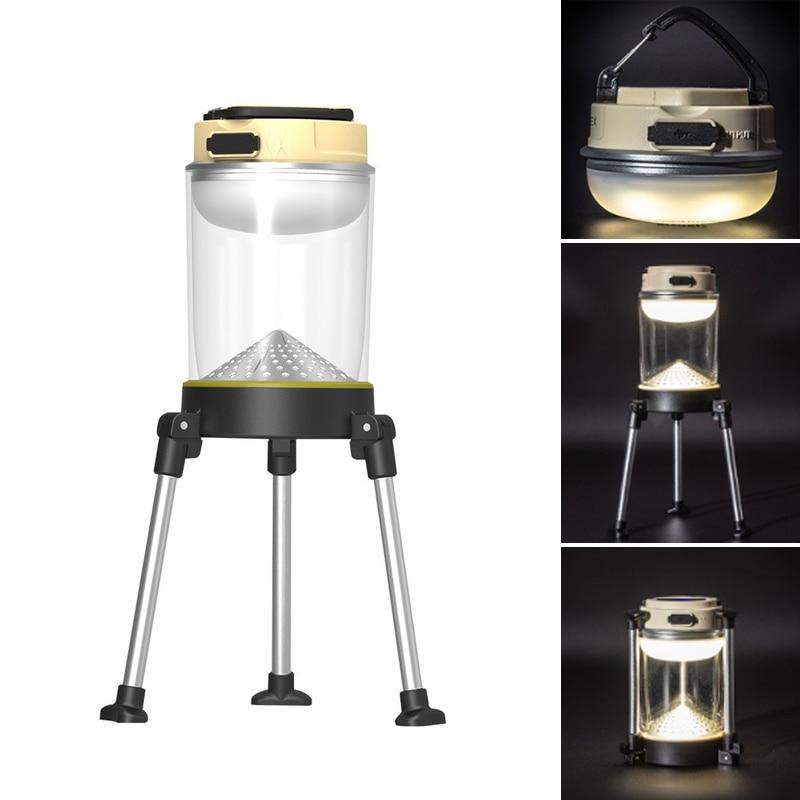 SUNREI Portable CC-MAX 2.4W 10-280LM LED USB Camping Light IPX5 Waterproof 5 Modes Work Lamp Outdoor Emergency Lantern Folding