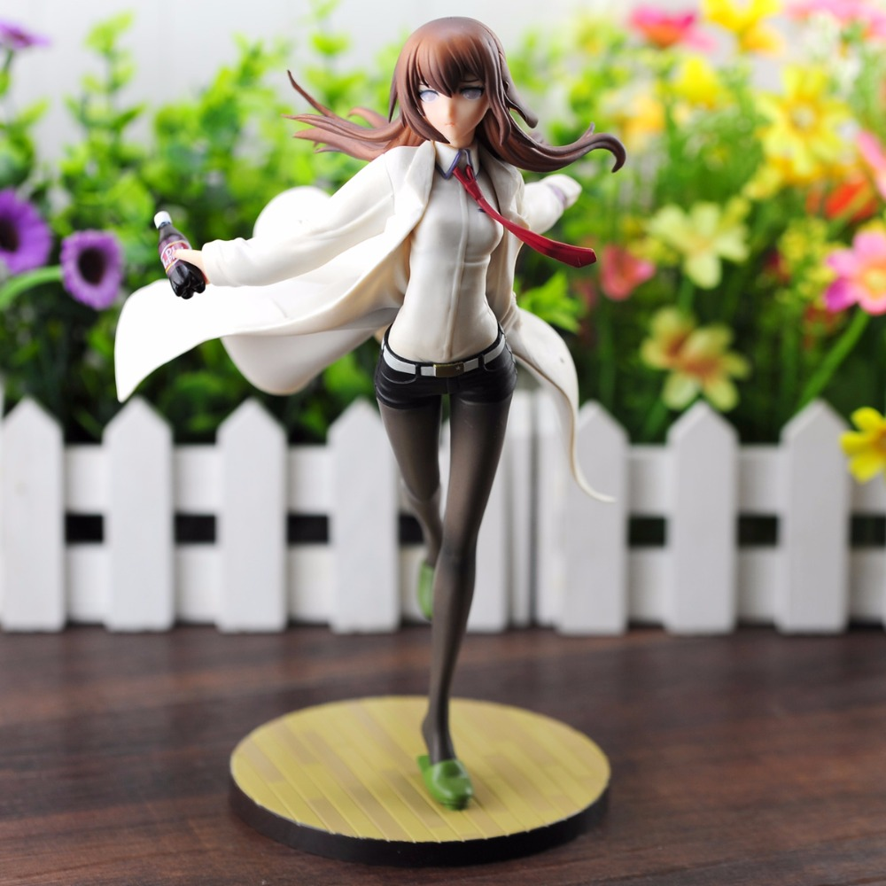 Stock sale Anime Steins Gate Makise Kurisu White Coat Ver. 1/7 Scale PVC Figure Collectible Model Toy 23cm gifts Free shipping