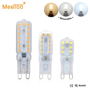G9 żarówki LED 220 V 110 V ściemniania 14 22 32 diody LED SMD 2835 LED G9 lampa światła wymienić 20 W 40 W 60 W światło halogenowe dioda emitująca światło u nas państwo lampy tanie i dobre opinie MeeToo CN (pochodzenie) Natura biały (3500-5500 k) Salon AC 110V 220V 500-999 Lumenów 30000 48mm 55mm 64mm Żarówki led