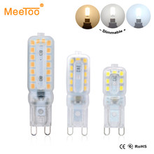 G9 LED Bulbs 220V 110V Dimmable 14/22/32 LEDs SMD 2835 LED G9 Lamp Light Replace 20W/40W/60W Halogen Light-emitting Diode Lamps(China)