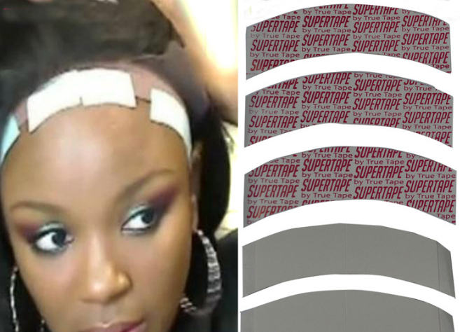 цена на Wholesale super quality Waterproof hair tape Double Side Adhesive Super Tape for Lace Wig Toupee Replacement