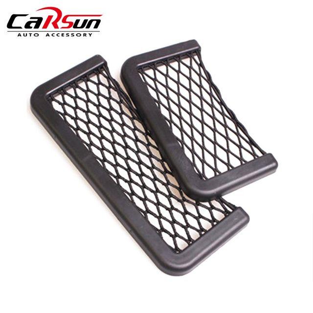 1Pcs 3M Adhesive Net Organizer Car Seat Door Side Phone Holder 15-20cm Creative Car Styling Auto Storage Bag