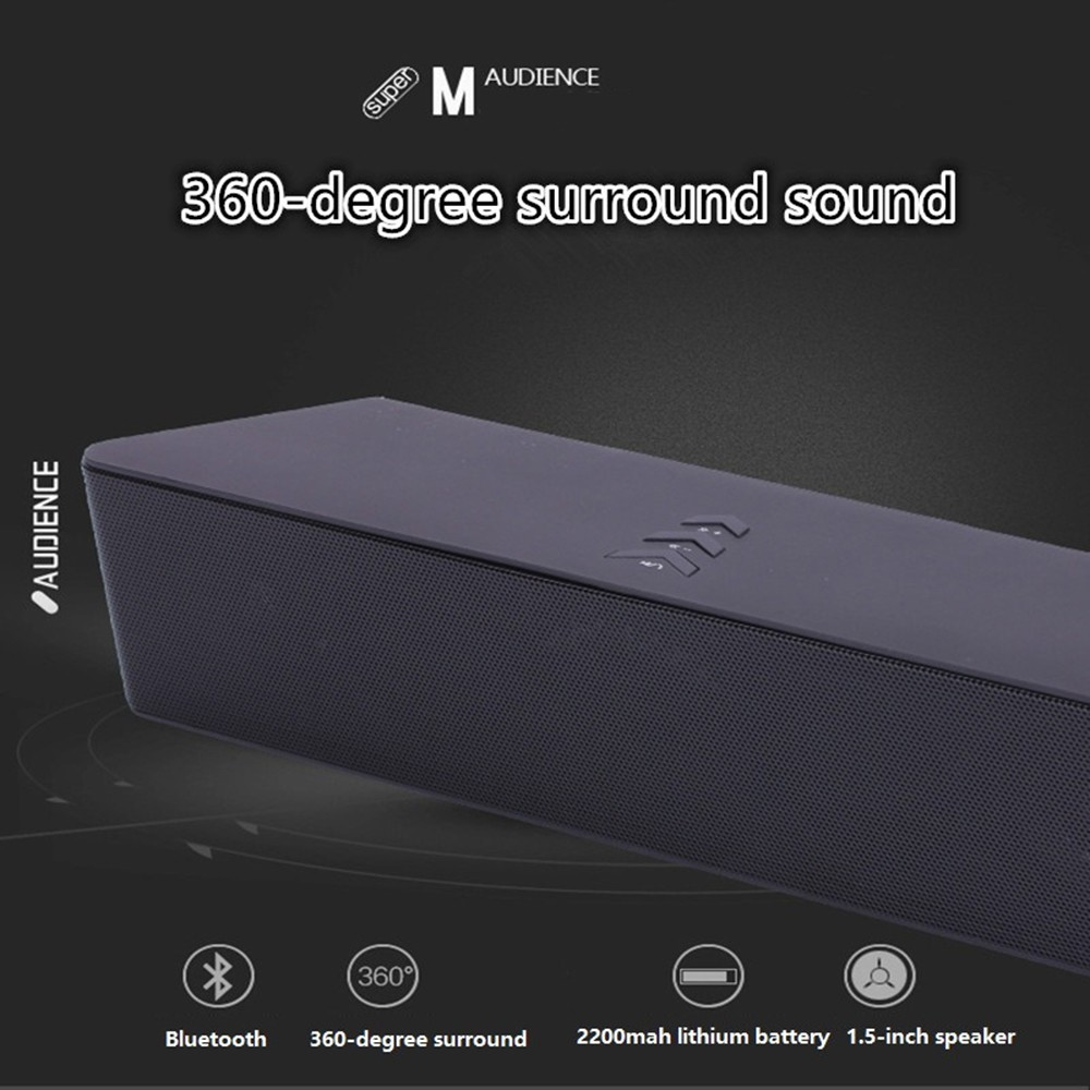 Super Bass Portable Bluetooth Speaker 4.0 Big Powerful 10W Soundbar Wireless Stereo Sound Box with DSP Noise Reduction Mic (2)