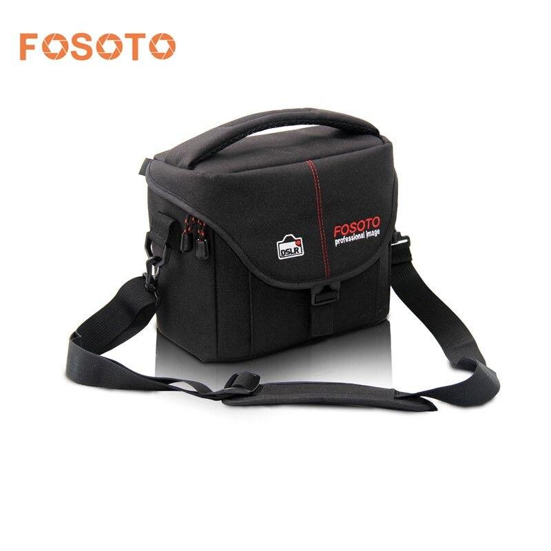 Fosoto DSLR Cámara bolsa caso video foto fotografía digital hombro nylon Bolsas para DSLR Sony Canon Nikon d700 d300 d200