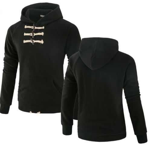 Men's Long Sleeve Hoodie Sweatshirt Casual Hooded Coat Pullover Tops