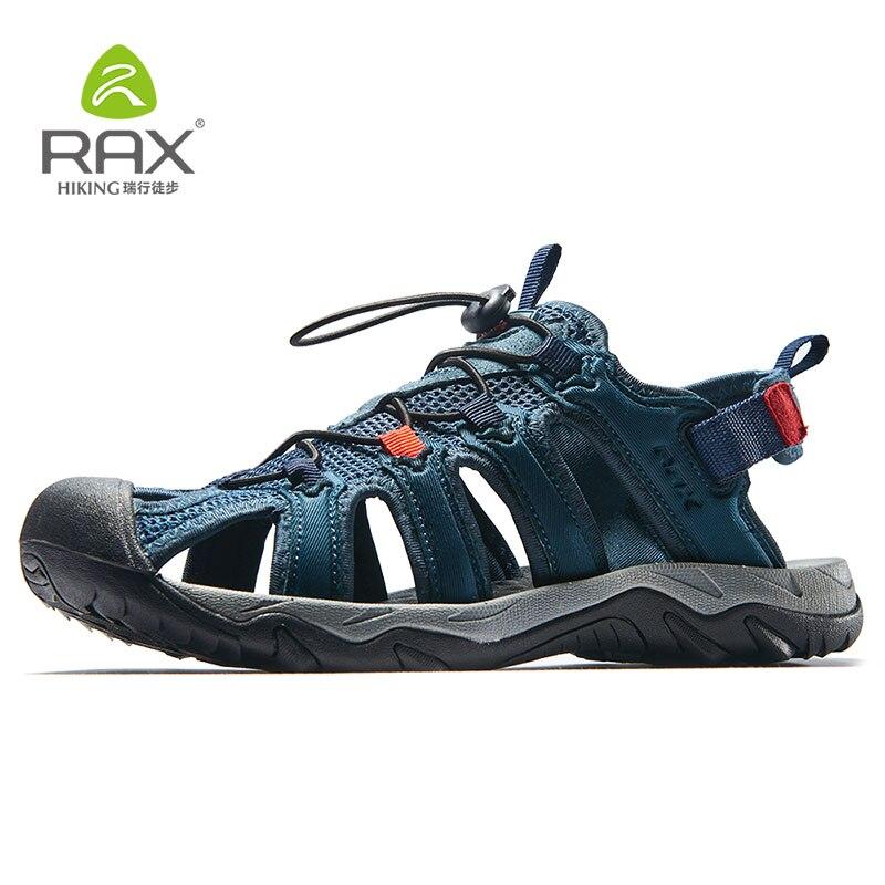 Rax Для Мужчинs Пеший Туризм обувь дышащая легкая Спорт на открытом воздухе Босоножки Для мужчин пляжные тапочки быстрое высыхание Рыбалка о...