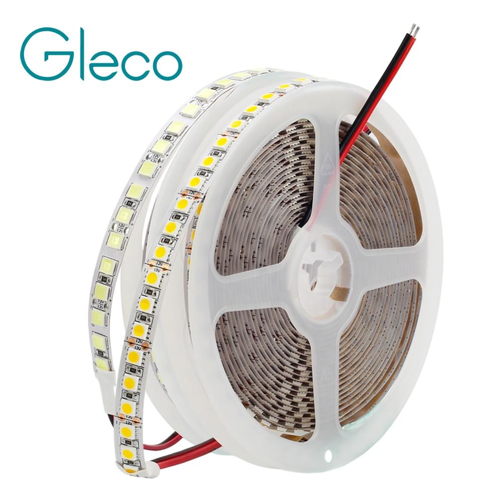 DC12V LED Bande 5050 5054 4040 SMD 120 LEDs/m 5 m/lot super lumineux IP20 Flexibe bande LED lumière blanc chaud, blanc froid