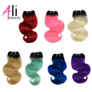 Ali-Beauty Human-Hair-Weaves-Machine Made 8-Inches Body-Wave Remy 50g/pcs
