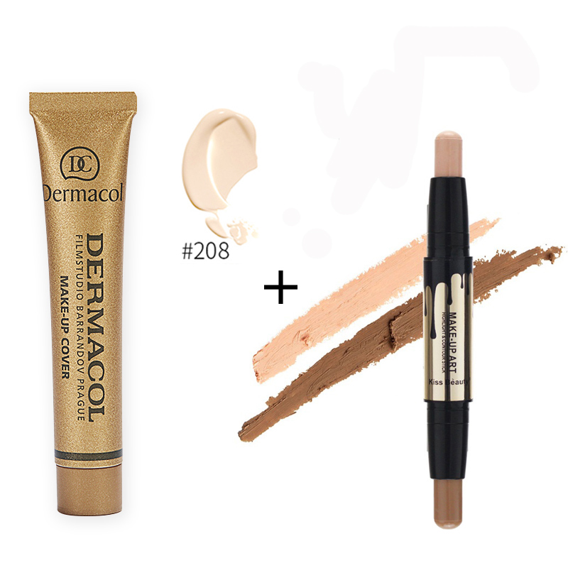 Base Dermacol Make up Cover Concealer Corretivo Countour Makeup Cream Anti-cernes Double Bronzers Highlighters Dropshipping 2017