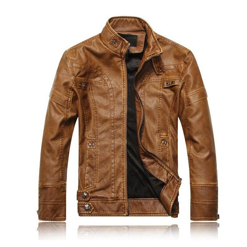 Man Lether Jackets Good Pu Leather Jaqueta Masculinas Otono Jacket Fashion Slim Fit Men Autumn Jaqueta De Couro Plus Size M-XXXL