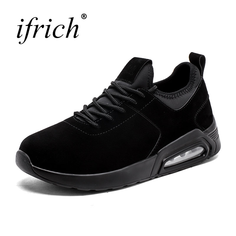 Brand Air Cushion Men Sneakers Spring Walking Shoes Male Running Shoes Blcak White Mens Trainers Lace Up Cool Sneakers For Men