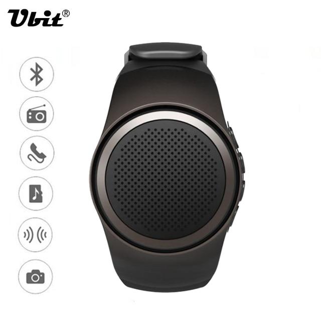 Ubit B20 Smart Watch With Self-timer Anti-Потерянный Сигнал Тревоги Музыка Спорт Мини-Динамик Bluetooth Поддержка TF Карта FM радио AUX громкой