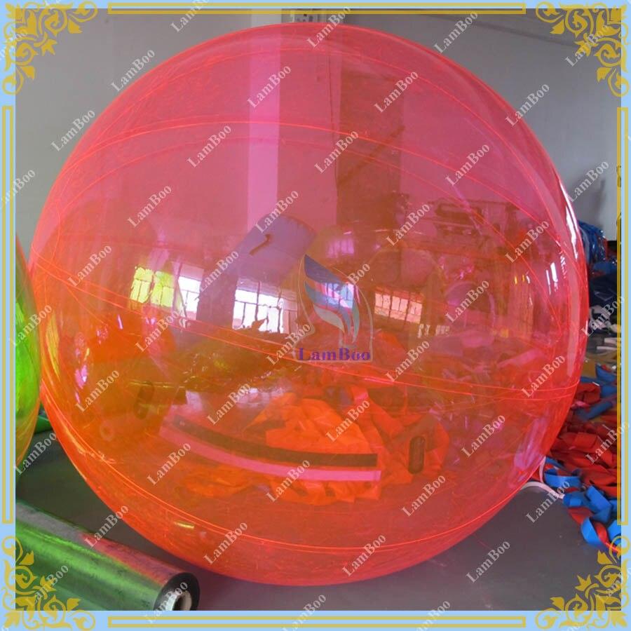 Offre spéciale boule de marche gonflable de l'eau, boule colorée de jeu de l'eau pour des enfants et des adultes, boule de bulle de couleur de t-zipper