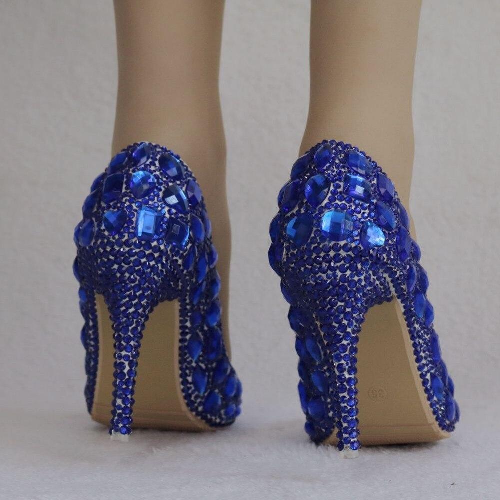 Argent Strass orange Pointu ivoire Pompes Bout Cristal De Bleu pourpre 2018 Cendrillon Beige Mariage Étincelante Femmes Nouvelle Chaussures Soirée bleu AOnxUw7vq
