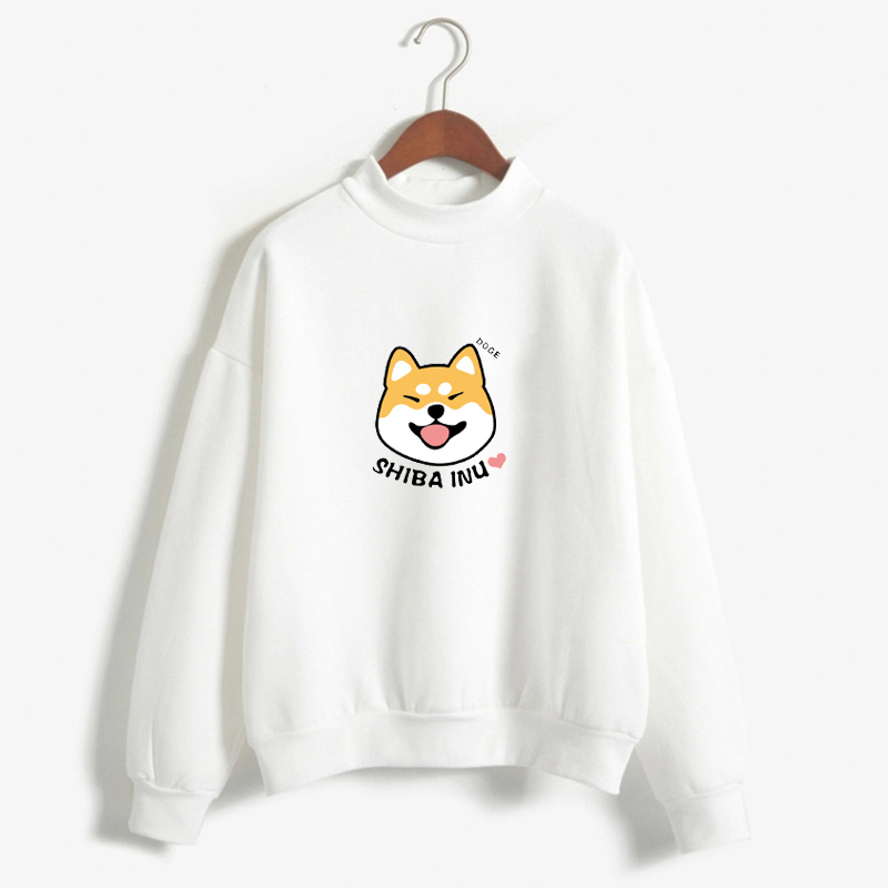 Women Harajuku Hoodies Cartoon Dog Shiba Inu Anime Printed Sweatshirt Sudadera Mujer Moletom Feminino Kawaii Pullover Top