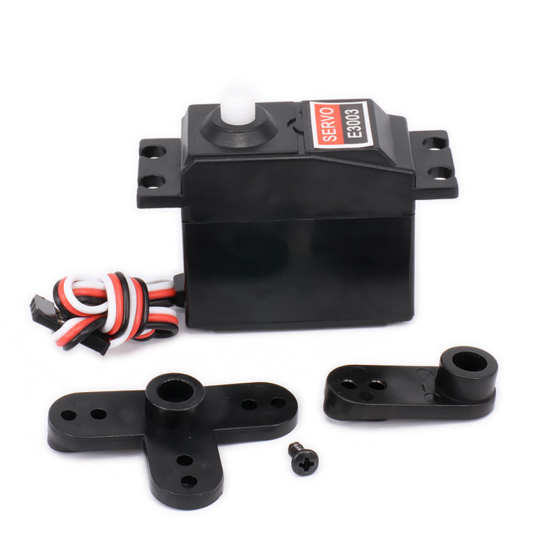 3kg Torque Throttle Steering Servo With Servo Arms For 1/8 1/10 RC Hobby Model Car/Boat HSP HPI Wltoys Himoto Redcat Tamiya 5pcs lot servo mg995 996 servo high speed digital metal gear ball bearing torque 12kg for hpi rc car boat for robot arduino kit