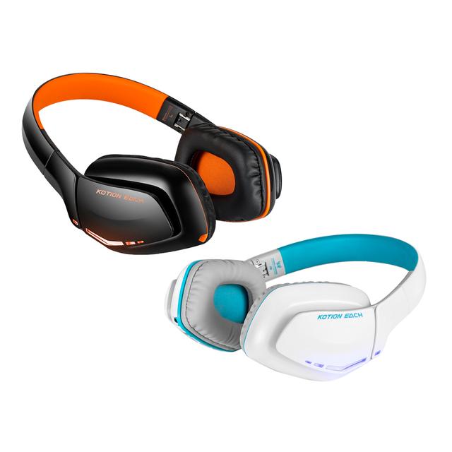 Kotion each b3506 dobrável bluetooth 4.1 fone de ouvido sem fio fones de ouvido estéreo gaming fone de ouvido com microfone para ps4 pc computador tablet