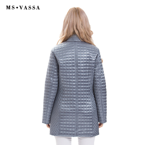 MS VASSA Women Jackets 2019 new Spring Ladies coats fashion jackets stand up collar plus size 5XL 6XL female outerwear Islamabad