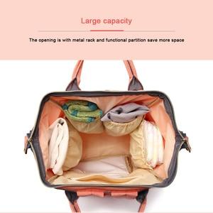 Image 4 - Lequeen ベビーおむつのためのママママバッグ大容量の産科おむつバッグベビーのためのベビーカー
