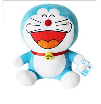 Movie & TV Doraemon plush toy 25cm laugh design happy doraemon doll gift w2273