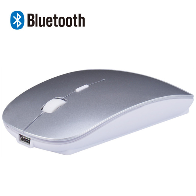 Rechargeable Bluetooth Wireless Slim Mouse Mice for Mac Apple Laptop Macbook Notebook Desktop PC Tablet Support OS Win10 8/7