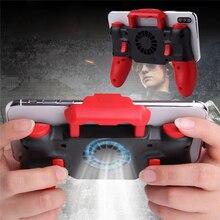 คอนโทรลเลอร์เกมไร้สายบลูทูธ Telescopic PUBG Gamepad จอยสติ๊กพัดลมระบายความร้อนสำหรับระบบ IOS iPhone 6 7 8 PLUS X XR XS MAX