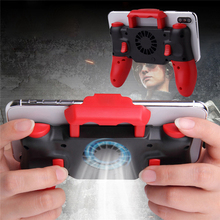 ワイヤレス bluetooth ゲームコントローラ伸縮 pubg ゲームパッドジョイスティック冷却ファンのための ios システム iphone 6 7 8 プラス x xr xs 最大