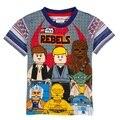 Crianças Roupas de Alta Qualidade Camisa Roupas Lego Lego Star Wars T Shirt do Verão de Algodão de Manga Curta T-shirt Para O Menino