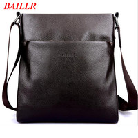BAILLR Luxury Business Men S Handbag Brand Cow Leather Messenger Bags 2017 New Winter Genuine Leather