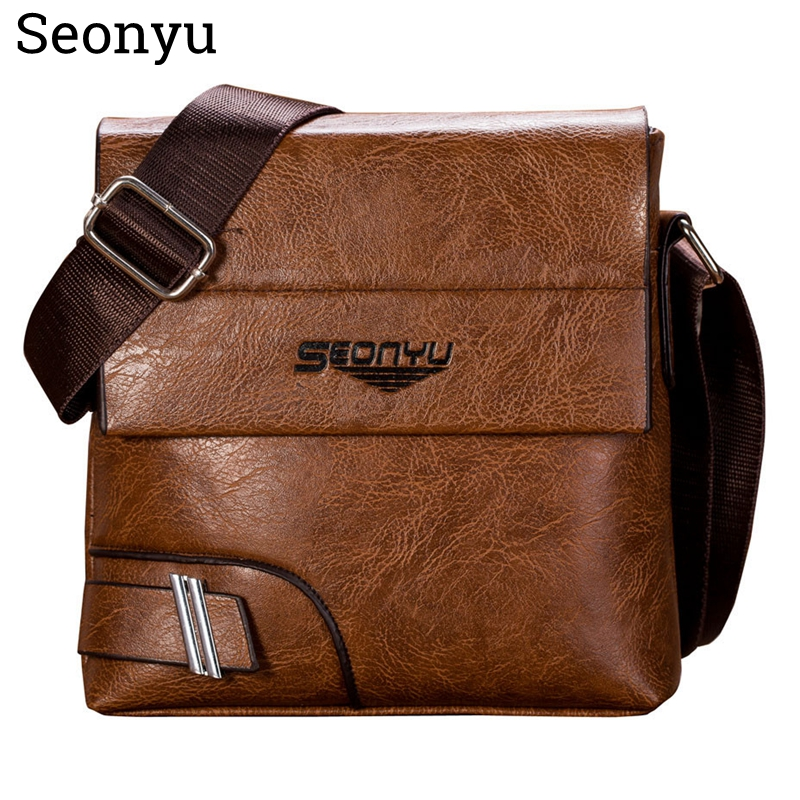 SENOYU Men Briefcase Bag High Quality Business Brand Leather Shoulder Messenger Bags Office Handbag,bolso Hombre,man Bag,mensbag