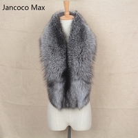 Jancoco Max 2018 Magnetic Female Real Silver Fox Fur Scarf Women Winter Warm Shawl High quality Wholesale/ Retail S1641