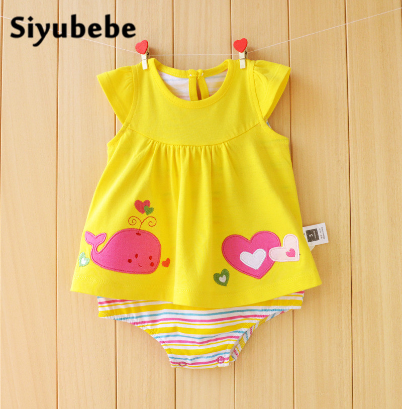 Newborn Baby Clothes Hight Quality Fashion Baby Girls Summer Dress Cheap Cute Cotton Infant Bebe Girl Rompers Toddler 0-18M puseky 2017 infant romper baby boys girls jumpsuit newborn bebe clothing hooded toddler baby clothes cute panda romper costumes