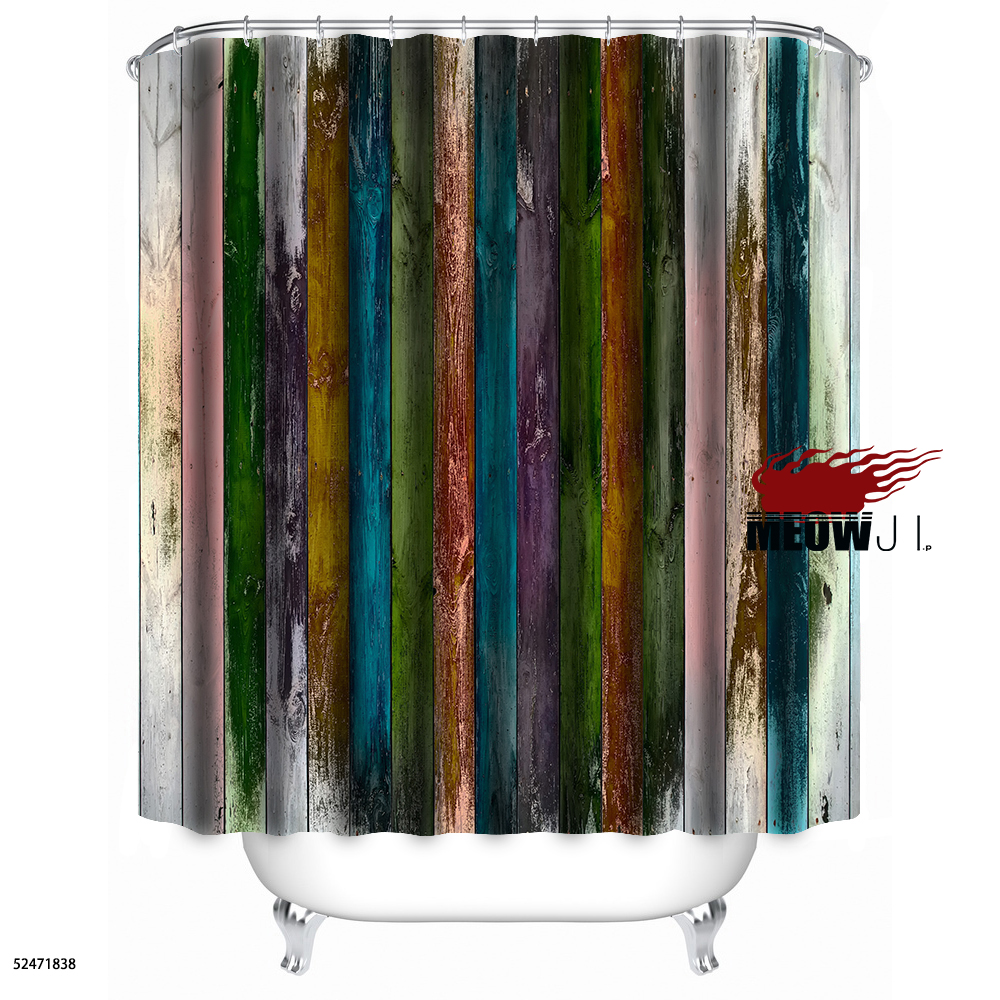 Curtains texture - Colorful Luxury Wood Rustic Texture Batten Tree Vintage Custom Shower Curtain Bathroom Decor Various Sizes Free Shipping