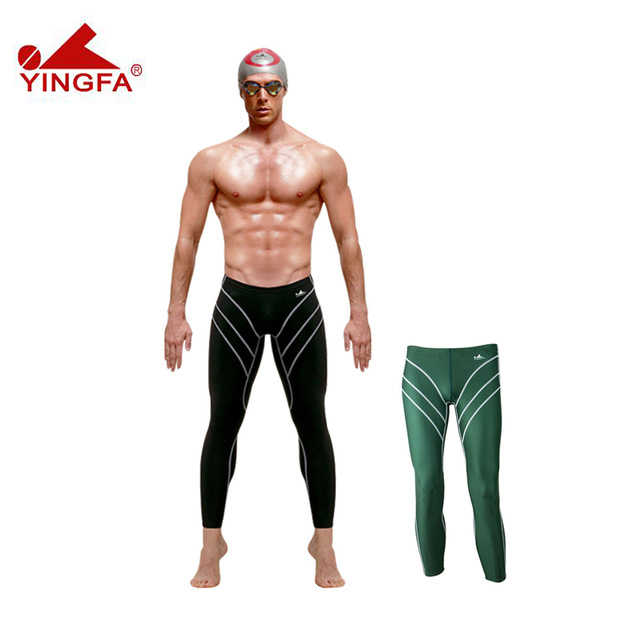 Yingfa 9707 Men/boy's professional  long swim trunks, Sunscreen Long swimming trunks,fall winter swimwear,wet suit,diving Pants