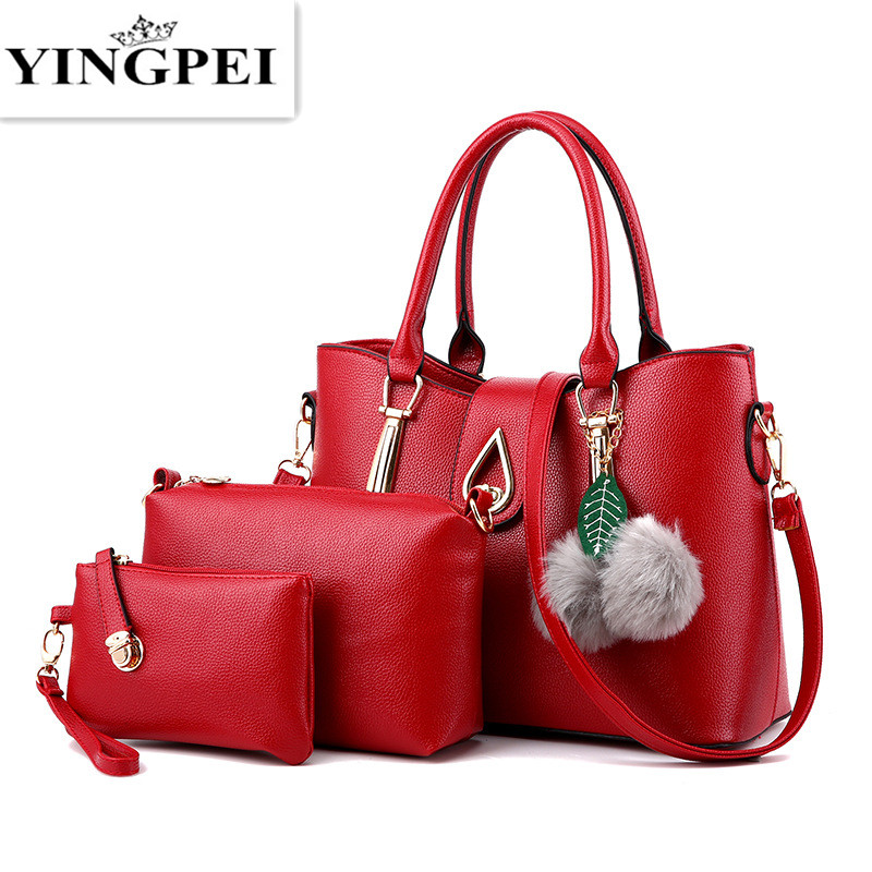 YINGPEI Women Handbags PU Messenger Bags Ladies Famous Brand Designs Handbag Top-Handle 3 Pcs/Set Shoulder Composite Bag цена