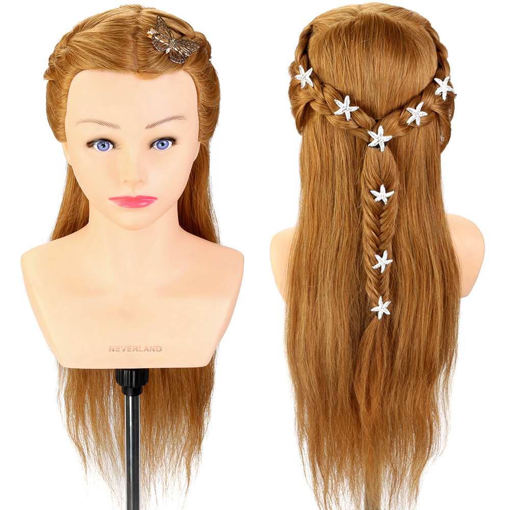 24 Quot 100 Real Human Hair Mannequin Head And Shoulder