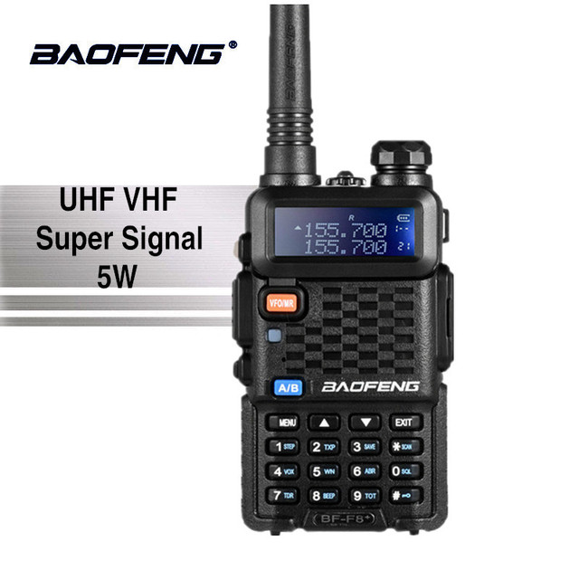 Baofeng BF-F8 + Mise À Niveau Nouveau Talkie Walkie Police Radio Bidirectionnelle Pofung F8 + 5 w UHF VHF Double Bande en plein air Longue Portée Jambon Émetteur-Récepteur
