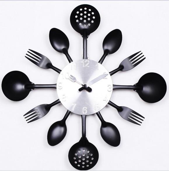 Top Selling 1pcs Creative Clock Design For Kitchen & Kitchen Clock & Unique Modern Clocks Free Shipping