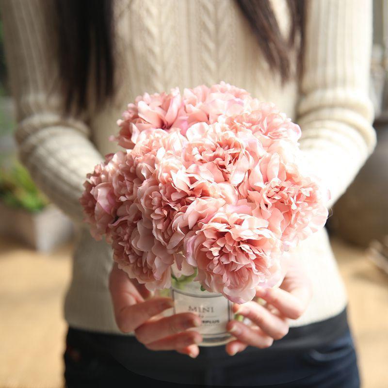 Hot List Produkt Kunstliche Blumen Pfingstrose Bouquet Fur Hochzeit