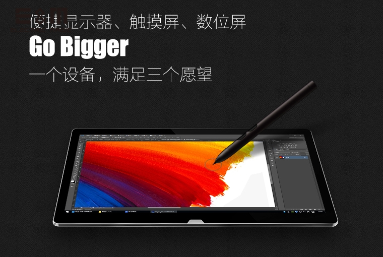 E&M 15.5 inch 2800*1620 3K IPS Touch Display Portable Graphics Tablet Monitor USB Typc C DP Thunderbolt 3 N trig Pressure Pen bote visto desde abajo del agua