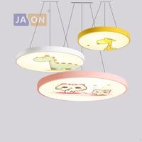 LED современное железо акрил круглый 5 см Высота Мультфильм LED лампа. LED свет подвесные светильники. Подвесной светильник. Подвесной светильни...