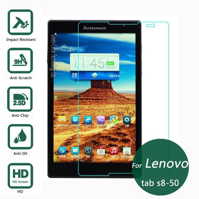 Para lenovo tab s8-50 vidrio templado protector de la pantalla 2.5 9 h película protectora de seguridad en la ficha 8.0 s8 50
