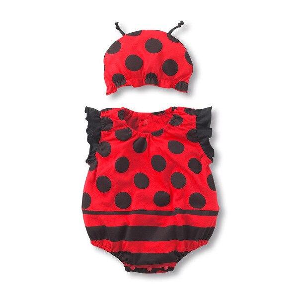 Coccinella body + cappello neonato ragazza estate fragola frutta animale cotone tuta neonato anguria costumi